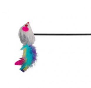 Trixie Playing Rod - въдица мишка с пера