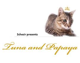 Schesir Cat Fruits Tuna and Papaya риба тон и папая за котки 75гр