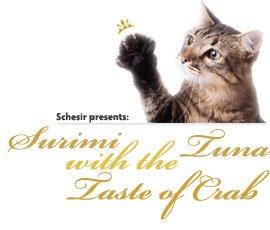 Schesir Cat Surimi Tuna with the Taste of Crab парченца в желе 85гр с риба тон, сурими и раци за котки