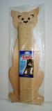 Miazoo Fiesta котка бежова, малка драскалка с котешка трева 49 х 18см